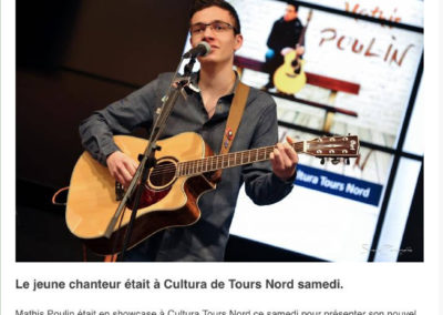 Le jeune Mathis Poulin en showcase info-tours.fr